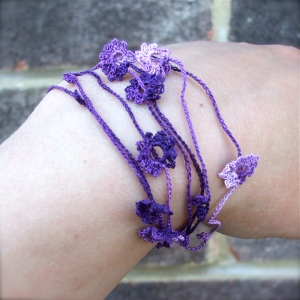 necklace/bracelet - crochet jewellery