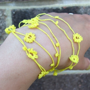necklace/bracelet - crochet jewellery