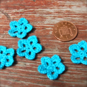 single crochet flowers