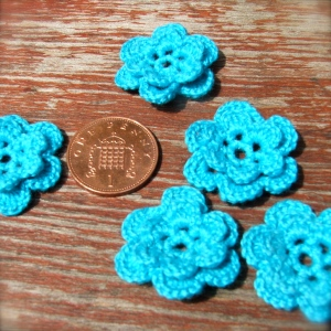 double petal crochet flowers