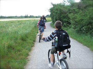 on the way, cycling