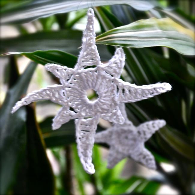 eight beam crochet star