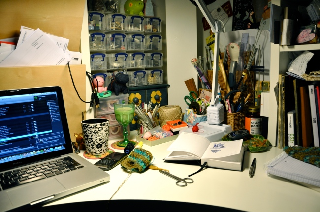 my creative desk
