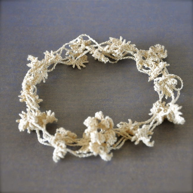 photo crochet bridal necklace or bracelet