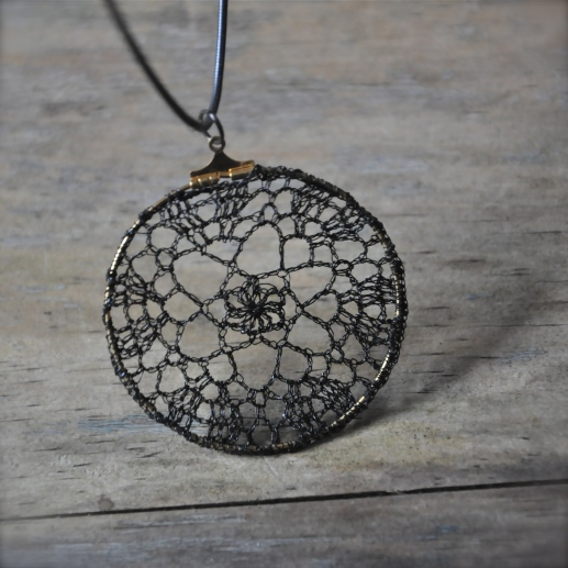 delicate crochet necklace