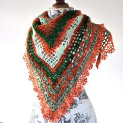 photo of the vitamin splash shawl