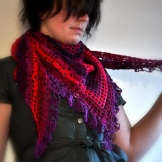 photo of the summer berries shawl