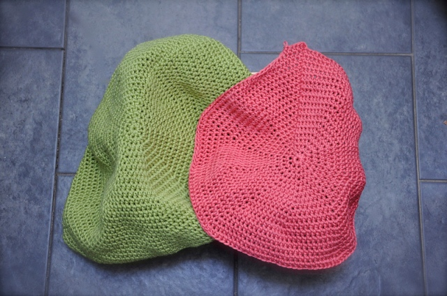 progress on crochet puffs