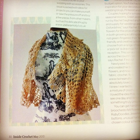 my shrug featured in the magazine :)