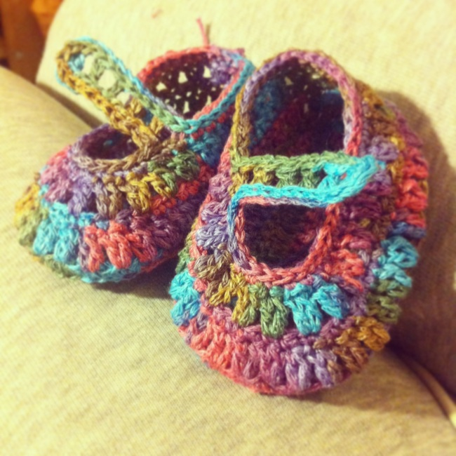 new hippy baby booties