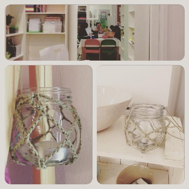 crochet tea light holder
